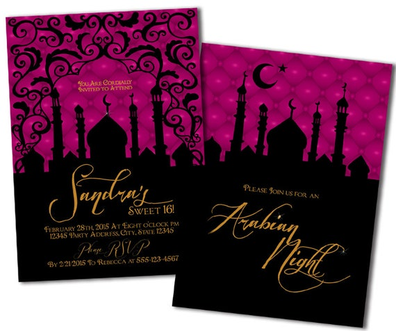 Arabian Nights Birthday Party Invitations by MetroDesigns Graphic