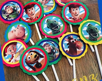 Toy Story theme cupcake toppers