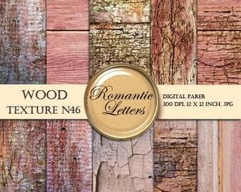 Sale 60% Digital Paper Wood Digital Scrapbook Paper Pack Wood Texture newborn digital photography backdrop background Shabby Chic pink wood