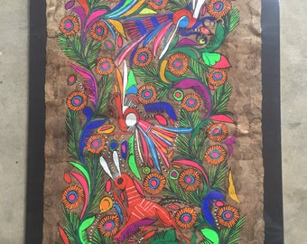 Vibrant Mexican Folk Art Painting