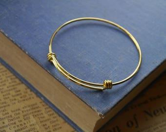 Gold Bangle Adjustable Slider Bracelet  (GFC2990)