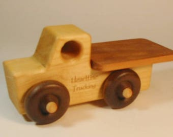 Heirloom-Quality Hardwood Toy Flat-Bed Truck