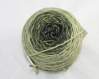 Merino DK Gradient Yarn, Druid Green Colorway