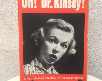 Vintage 1953 humorous paperback book Oh! Dr. Kinsey by Lawrence Lariar
