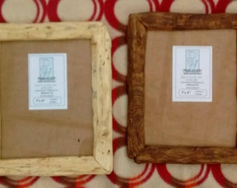 """Rustic/driftwood style frames in locally sourced,recycled hardwood.Medium dark or clear beeswax finish.To fit 7""""x9"""""""