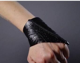ON SALE Black Leather Cuff Bracelet - Leather Cuff Bracelet - Leather Cuff - Twisted Leather Cuff Bracelet - Leather Black Cuff
