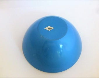 Vintage Emalox Norway Blue Enamelware Bowl 8 by 4 Inches