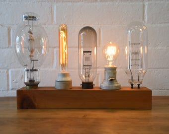 Vintage Lightbulb Industrial Desk Lamp