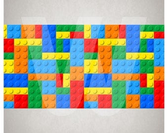 Wall Border Set - Toy Bricks Blocks - 16 ft x 6 in - Decal Sticker - Buy 3 sets, get FREE shipping (Details in listing)