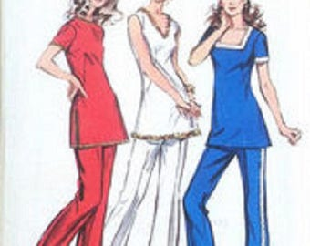 Simplicity 9921 Misses & Miss Petite Tunic And Pants Pattern 14 And 14p, UNCUT