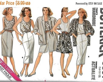 ON SALE Butterick 5597 Misses Jacket, Top, Skirt And Shorts Pattern, Today's Wardrobe, 14-16-18, UNCUT