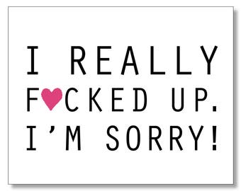 Sorry cards etsy il im sorry card sympathy card forgive me funny hilarious mature i altavistaventures Choice Image