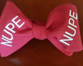 "Kappa Alpha Psi Fraternity, Inc. ""NUPE"" Freestyle or Pre-tied BowTieByEDJ - Crimson"