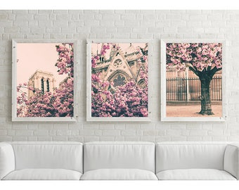 SALE, Paris photography, Paris prints, Paris wall art, Paris canvas, Paris print, cherry blossom art, pink wall art, wall art canvas art