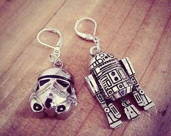 Women Droïde Stormtrooper ♠Star Wars♠ Silver earrings