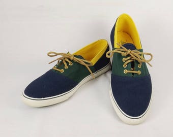 Authentic BASS Women's Canvas Deck Shoes Size 7.5 M 7-1/2 M