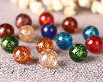 10pcs  Plum  glass bracelet necklace beads