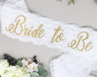 Lace Bachelorette Sash - Bride To Be Sash - Bachelorette Sash - Bachelorette Party - Bachelorette Party Sash - Bachelorette Party Accessory