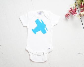 Airplane ONESIE®, Baby Shower Gift, Baby Boy Outfit, Baby Boy Onesie, Coming Home Outfit, Baby Gift, Airplane Outfit, Nursery Decor,