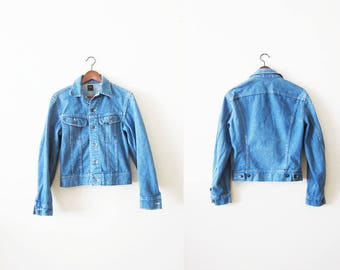 Vintage Denim Jacket / Lee Storm Rider Jacket / 80s Jean Jacket / Denim Jacket Small / Trucker Jacket /  Jean Jacket XS / Vintage Lee Jacket