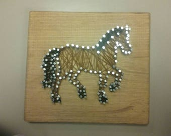 Horse string art wall plaque