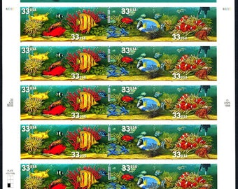 Aquarium Fish twenty 33 cent stamps