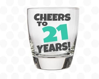 Cheers to 21 years rocks glass, 21st birthday for him, 21st birthday gift for him, men birthday, birthday gift for brother, for son