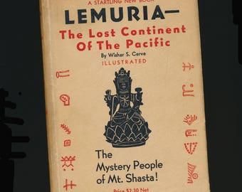 "vintage book, ""Lemuria Mystery People of Mt. Shasta"", hardback w dj, Rosicrucians"