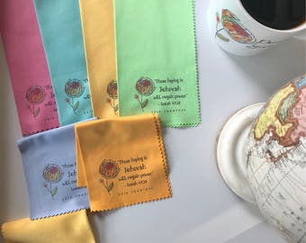 25- 2018 Yeartext Microfiber cloths with Colorful Peony
