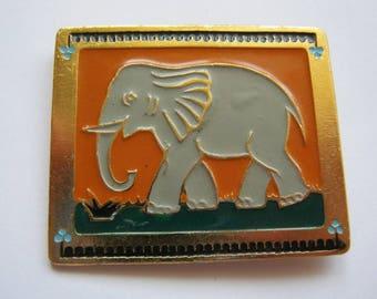 Old USSR  Soviet union big pin badge Elephant