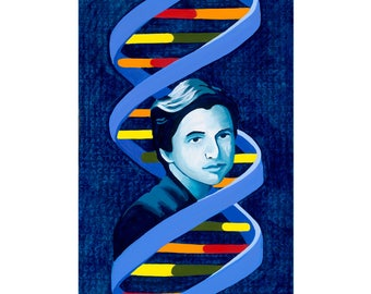 Rosalind Franklin - Limited Edition Reproduction, Matted to fit into a 11x14 Frame