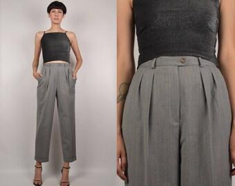 Ralph Lauren High Waist Pinstripe Trousers