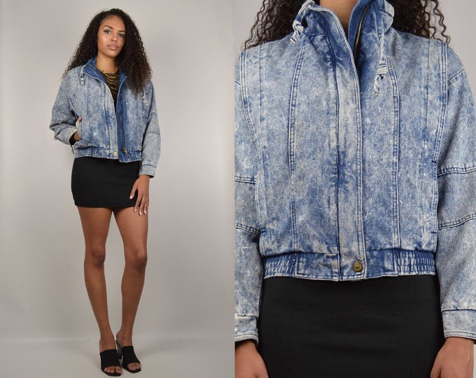 80's Acid Wash Denim Jacket