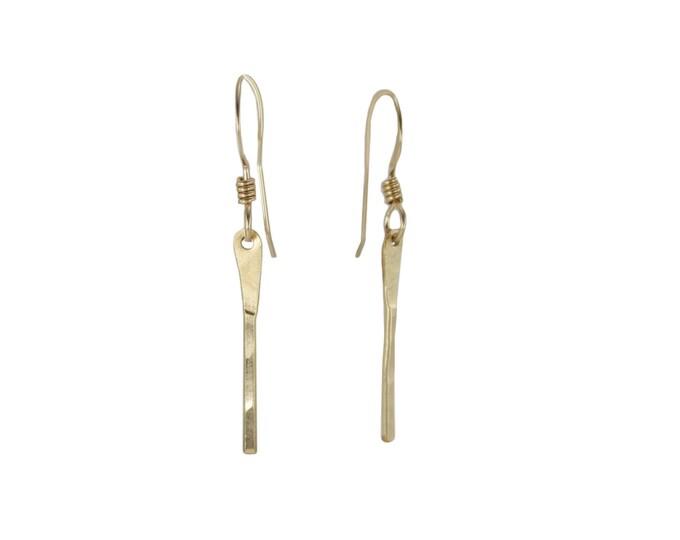 Bar Earrings - Gold or Silver