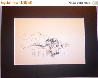 SALE Jack Russell terrier Vintage Mounted 1936 Mac Lucy Dawson - dog plate print Unique Birthday, anniversary, Thank you, Congratulations gi