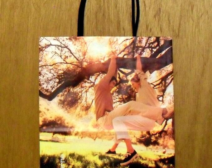 Vintage 1980s Liz Claiborne Perfume Promotional Paper Shopping Bag Designer Fragrance Collectible