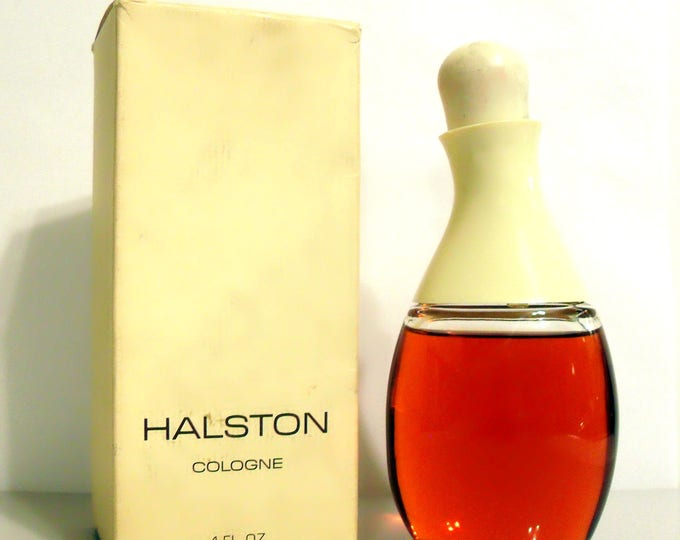 Vintage Perfume 1990s Halston by Halston 4 oz Cologne Splash Perfume Bottle & Box Classic Women's Fragrance