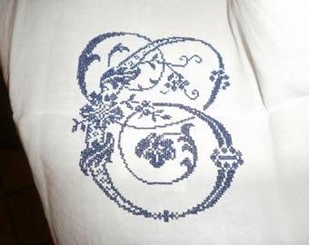 towel embroidered hemp