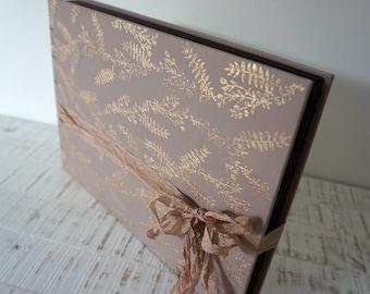Elegant Wedding photo album or Guest Book, Personalized Wedding guest book , Custom Wedding Photo album, Family album