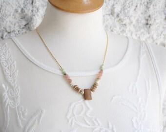Gemstone Jewelry, Boho Jewelry, Bohemian Jewelry, Gemstone Necklace, Boho Necklace, Necklace for Her, Women Necklace, Summer Jewelry