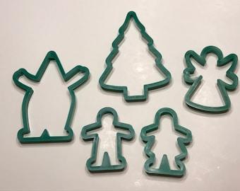set of 5 Vintage Cookie cutters , 100 - 150 mm (LR2)