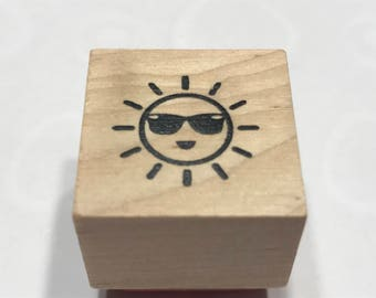 small Sun Rubber Stamp, 20 mm (BB4/2)