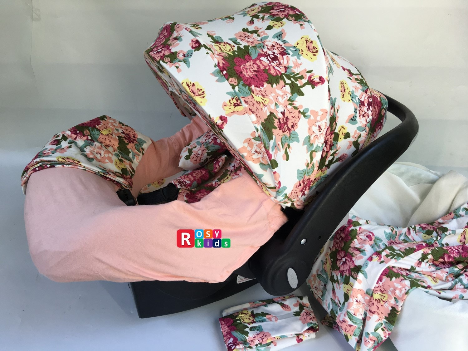 9pc baby boy baby girl ultimate set of infant car seat cover canopy headrest blanket hat nursing. Black Bedroom Furniture Sets. Home Design Ideas