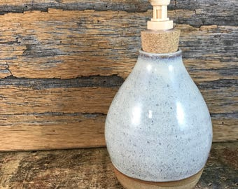 Ceramic Soap Dispenser / Handmade Pottery Lotion Dispenser / Cream Soap Pump / Rustic Decor / Country Kitchen