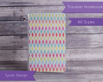 Dashboard for Traveler's Notebook - Various Sizes with pocket option - Geometric & Yellow pattern - All Sizes
