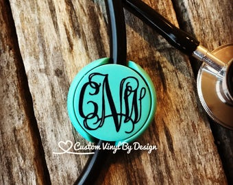 Stethoscope ID Tag | Stethoscope Name Tag | Stethoscope Accessories | RN Gifts | Nursing Student Gift | Nurse Practitioner Gift | Med Tech