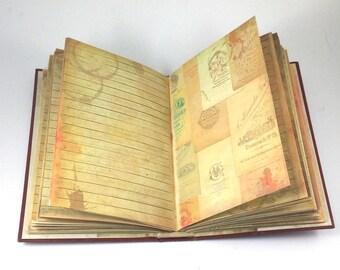 Bare Bones Journal, Junk Journal, Tea Dye Journal, Diary, Writing Journal, Altered Book, Travel Journal, Vintage Journal, Memory Journal