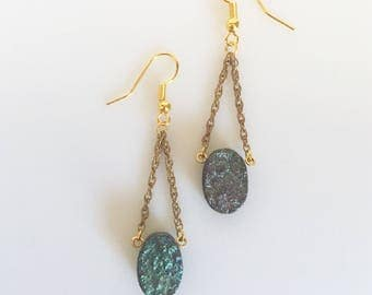 SALE! Druzy Swing Earrings