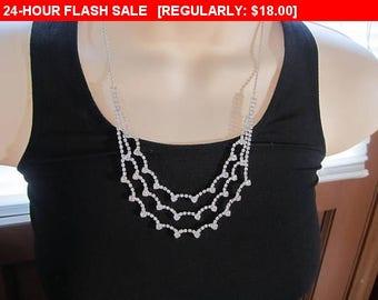 Pretty Rhinestone necklace, estate jewelry, wedding, formal