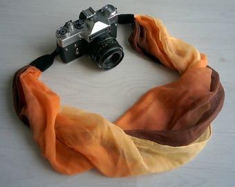 Camera strap Ombre camera strap ON Sale camera strap Scarf camera strap DSRL camera strap Photographer gift  CLEARANCE Sale camera straps
